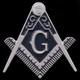Mason Symbol Auto Emblem- Silver