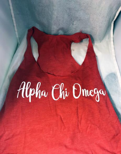 Alpha Chi Omega Sorority Tank Top