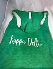 Kappa Delta Sorority Tank Top- Green