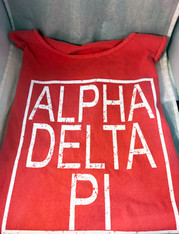 Alpha Delta Pi ADPI Sorority Tank Top- Block
