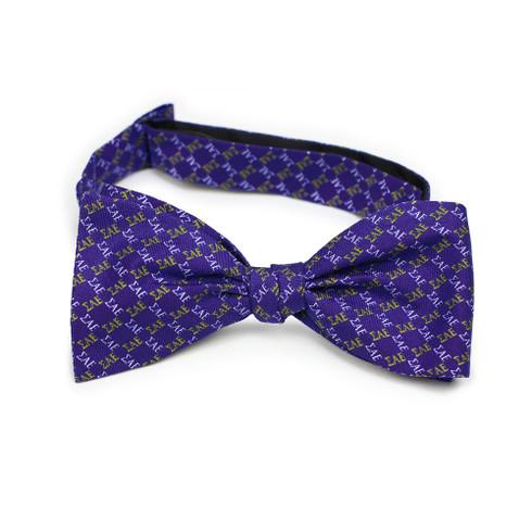 Sigma Alpha Epsilon SAE Fraternity Silk Bow Tie- Self-Tie- Greek Letters