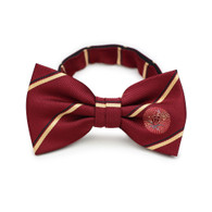 Pi Kappa Alpha PIKE Fraternity Pre-Tied Bow Tie- Garnet and Old Gold Stripes