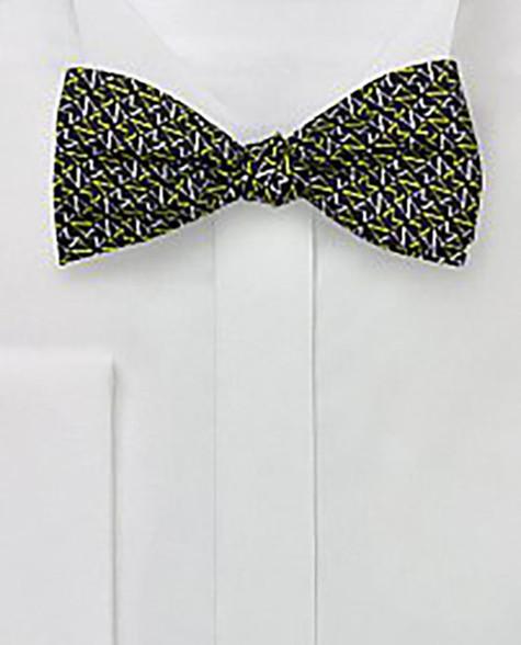 Sigma Nu Fraternity Silk Bow Tie- Self-Tie- Greek Letters