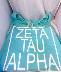 Zeta Tau Alpha Sorority Tank Top- Block