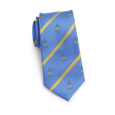 Alpha Tau Omega Fraternity Skinny Necktie- Crest