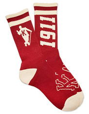 Kappa Alpha Psi Fraternity Socks-Crimson/Cream