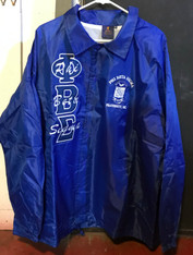 Phi Beta Sigma Fraternity Line Jacket- Blue- Blue Letters