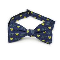 Delta Upsilon Fraternity Silk Bow Tie- Self-Tie- Greek Letters