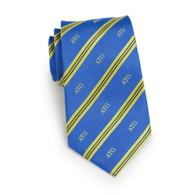Alpha Tau Omega Fraternity Silk Necktie- Greek Letters
