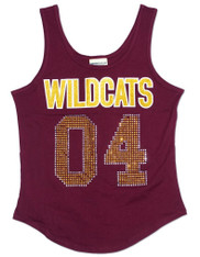 Bethune-Cookman University Rhinestone Tank Top