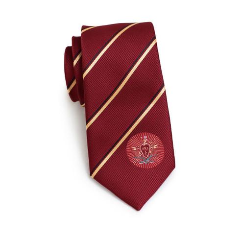 Pi Kappa Alpha PIKE Fraternity Skinny Necktie- Crest