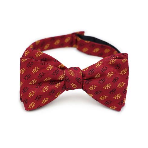 Pi Kappa Alpha PIKE Fraternity Silk Bow Tie- Self-Tie- Greek Letters