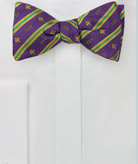Lambda Chi Alpha Fraternity Silk Bow Tie- Self-Tie- Greek Letters