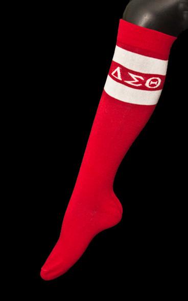 Delta Sigma Theta Sorority Knee High Socks
