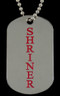 Shriner Double Sided Dog Tag