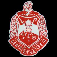 Delta Sigma Theta Sorority Chenille Shield Emblem- 10 ½ inches