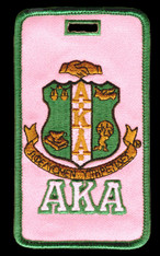 Alpha Kappa Alpha AKA Sorority Luggage Tag- Crest