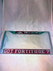 Delta Sigma Theta Sorority Got Fortitude? License Plate Frame- Crimson/Silver