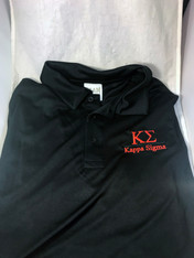Kappa Sigma Fraternity Dri-Fit Polo- Black- Style 2