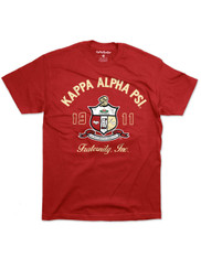 Kappa Alpha Psi Fraternity Graphic T-Shirt -Crest