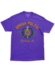 Omega Psi Phi Fraternity Graphic T-Shirt -Crest