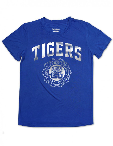 Tennessee State University Foil Shirt- Tigers