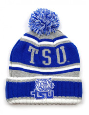 Tennessee State University Pom Beanie- Gray