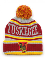 Tuskegee University Pom Beanie- Gray