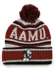 Alabama A&M University Pom Beanie- Gray