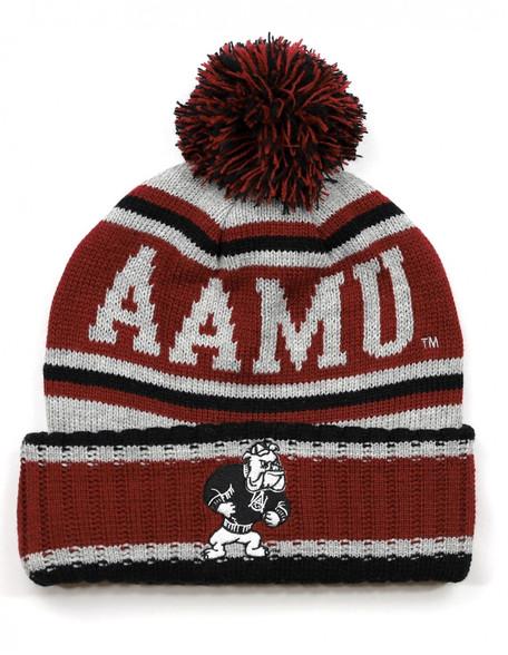 Alabama A&M University Pom Beanie- Gray