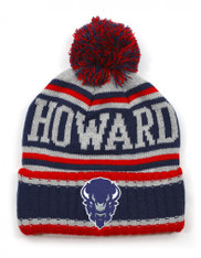 Howard University Pom Beanie- Gray