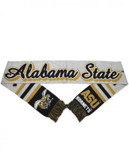 Alabama State University Acrylic Scarf- Gray