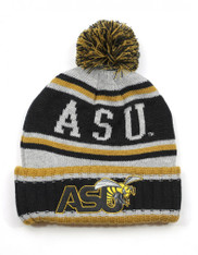 Alabama State University Pom Beanie- Gray