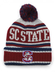 South Carolina State University Pom Beanie- Gray