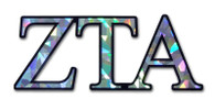 Zeta Tau Alpha ZTA Sorority Reflective Decal