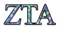 Zeta Tau Alpha ZTA Sorority Reflective Decal