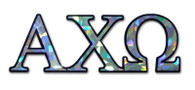 Alpha Chi Omega Sorority Reflective Decal