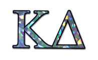 Kappa Delta Sorority Reflective Decal