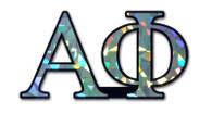 Alpha Phi Sorority Reflective Decal