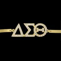 Delta Sigma Theta Sorority Bracelet-Gold