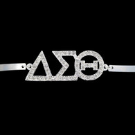 Delta Sigma Theta Sorority Bracelet-Silver
