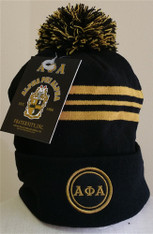 Alpha Phi Alpha Fraternity Beanie- Three Greek Letters