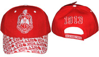 Delta Sigma Theta Sorority Hat with Detailed Bill