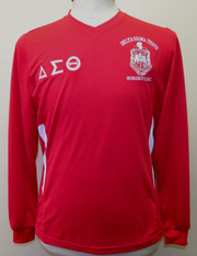 Delta Sigma Theta Sorority Dri-Fit Shirt- Long Sleeve- Red