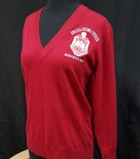 Delta Sigma Theta Sorority Pull Over Cardigan- Red