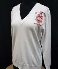 Delta Sigma Theta Sorority Pull Over Cardigan- White