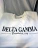 Delta Gamma Sorority Crewneck Sweatshirt- White