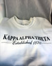 Kappa Alpha Theta Sorority Crewneck Sweatshirt- White