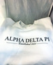Alpha Delta Pi ADPI Sorority Crewneck Sweatshirt- White