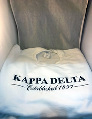 Kappa Delta Sorority Crewneck Sweatshirt- White